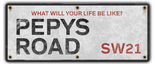 Pepys Road Sign